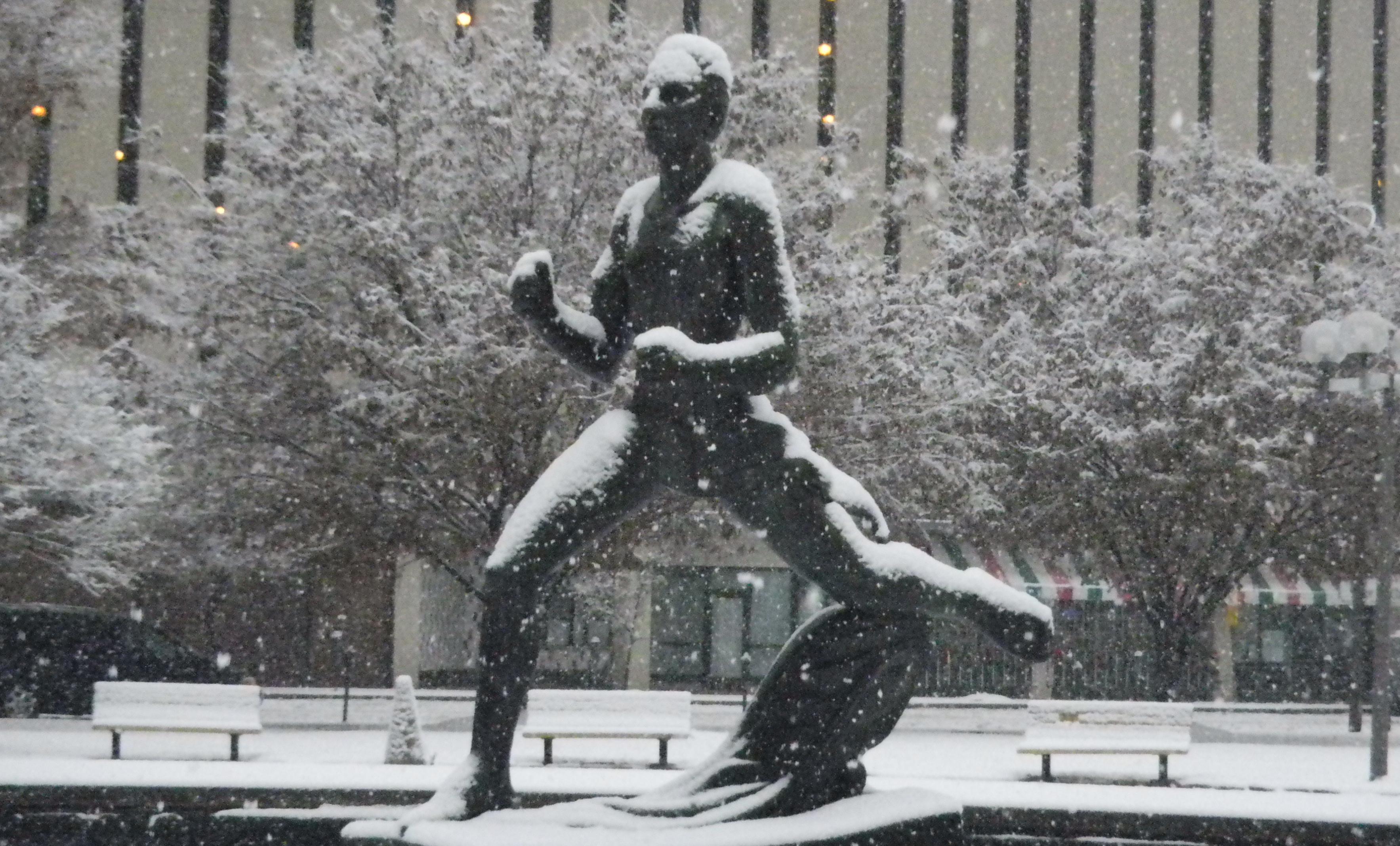 The Runner in Snow
